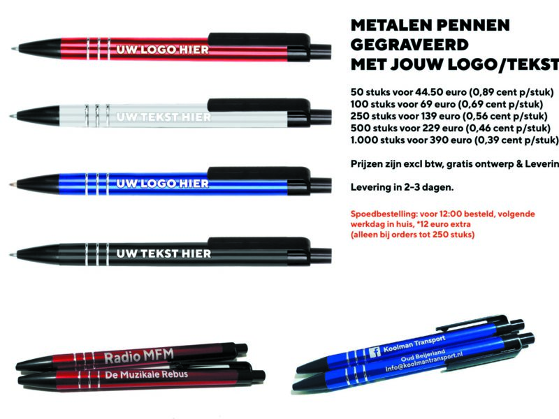 Metalenpennen prijs ontwerp 1